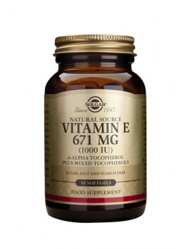 Solgar Vitamin E Natural 1000IU 50softgels