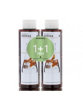 Korres Σαμπουάν με Ηλιάνθο & Τσάι του Βουνού για Βαμμένα Μαλλιά (1+1 Δώρο) 2x250ml