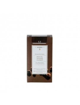 Korres Argan Oil Advanced Colorant 5.3 Καστανό Ανοικτό Χρυσό Μελί