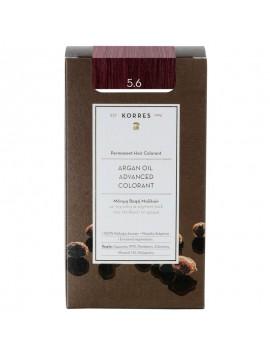 Korres Argan Oil Advanced Colorant 5.6 Καστανό Ανοιχτό Κόκκινο