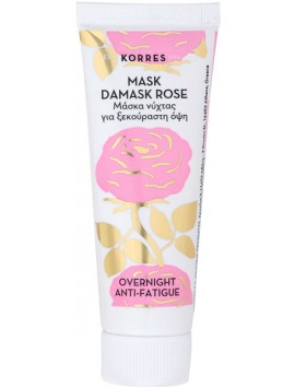 Korres Mask Damask Rose Μάσκα Νύχτας για Ξεκούραστη Όψη με Εκατοντάφυλλο 18ml