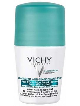 Vichy Deodorant Roll On 48H Κατά των Λευκών & Κίτρινων Σημαδιών 50ml