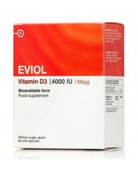 Eviol Vitamin D3 4000 (100μg) - 60caps