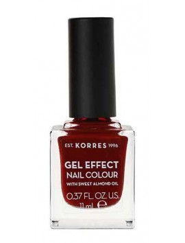 Korres Gel Effect Nail Colour No59 Wine Red 11ml