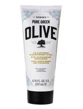 Korres Pure Greek Olive Γαλάκτωμα Καθαρισμού 3 σε 1 - 200ml