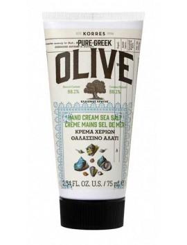 Korres Pure Greek Olive Κρέμα Χεριών Θαλασσινό Αλάτι 75ml
