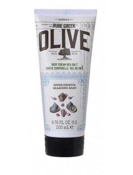Korres Pure Greek Olive Κρέμα Σώματος Θαλασσινό Αλάτι 200ml