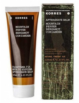 Korres Aftershave Balm Mountain Pepper Bergamot Coriander 125ml