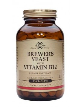Solgar Brewer's Yeast with Vitamin B12 250tablets