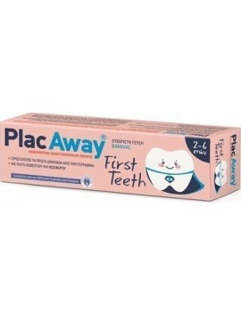 Plac Away First Teeth Οδοντόκρεμα 2-6 50ml