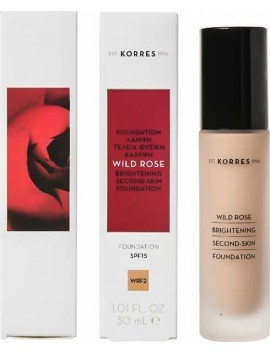 Korres Wild Rose Brightening Second-Skin Foundation SPF15 WRF2 - 30ml