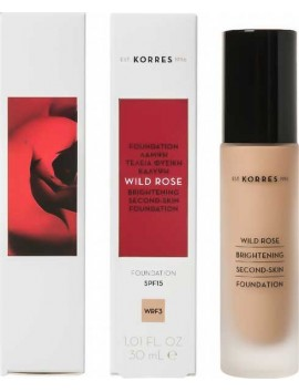 Korres Wild Rose Brightening Second-Skin Foundation SPF15 WRF3 - 30ml
