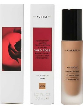 Korres Wild Rose Brightening Second-Skin Foundation SPF15 WRF4 - 30ml