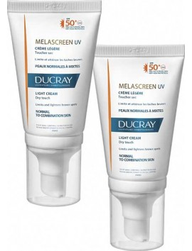 Ducray Melascreen UV Creme Legere SPF50+ - 2x40ml