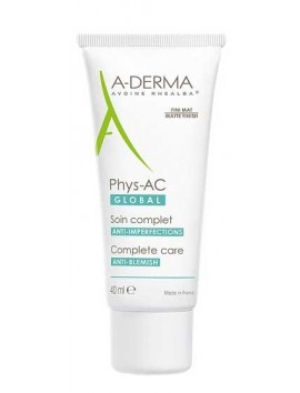 A-Derma Phys-AC Global Acne-Prone Oily Skin 40ml