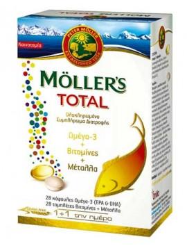 Moller's Total Ωμέγα 3, Βιταμίνες & Μέταλλα (28 caps + 28 tabs)