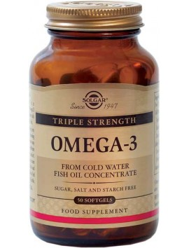 Solgar Omega-3 Triple Strength - 50softgels