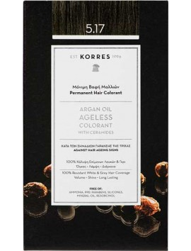 Korres Argan Oil Ageless Colorant 5.17 Καστανό Ανοιχτό Μπεζ