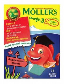 Moller's Omega-3 Φράουλα 36 Ζελεδάκια
