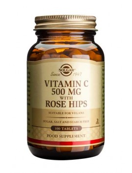 Solgar Vitamin C 500mg with Rose Hips - 100tabs