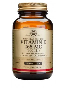Solgar Vitamin E 268mg(400IU) 50softgels