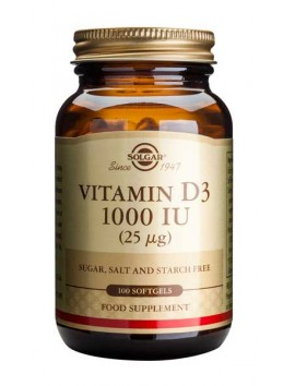 Solgar Vitamin D3 1000IU - 100softgels