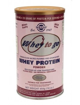 Solgar Whey Protein Powder Φράουλα - 454gr