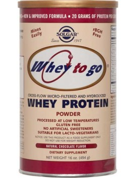 Solgar Whey Protein Powder Natural Chocolate Cocoa Flavour - 454gr