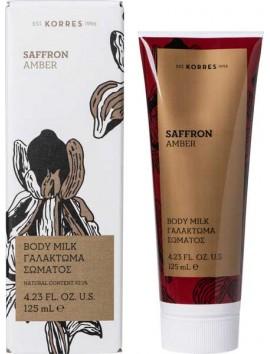 Korres Saffron Amber Body Milk 125ml