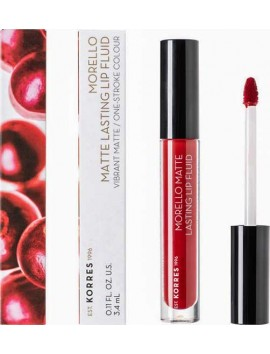 Korres Morello Matte Lasting Lip Fluid No59 Brick Red - 3,4ml