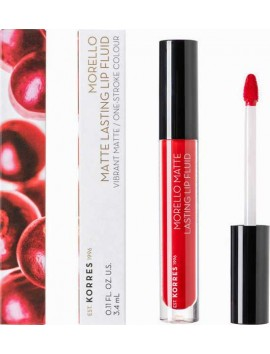 Korres Morello Matte Lasting Lip Fluid No53 Red Velvet - 3,4ml