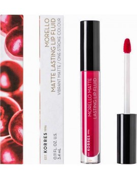 Korres Morello Matte Lasting Lip Fluid No29 Strawberry Kiss - 3,4ml