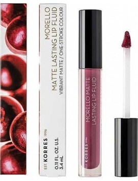 Korres Morello Matte Lasting Lip Fluid 72 Blueberry Popsicle
