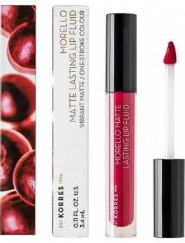 Korres Morello Matte Lasting Lip Fluid 27 Cranberry Sorbet