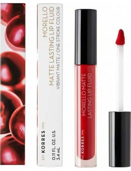 Korres Morello Matte Lasting Lip Fluid 52 Poppy Red