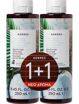 Korres Αφρόλουτρο με Νερό Καρύδας (1+1 Δώρο) - 2x250ml