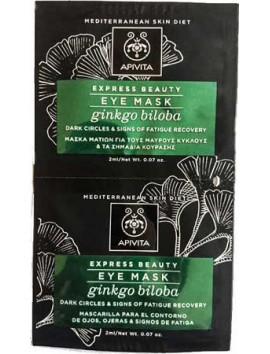 Apivita Express Beauty Eye Mask Ginkgo Biloba 2x2ml