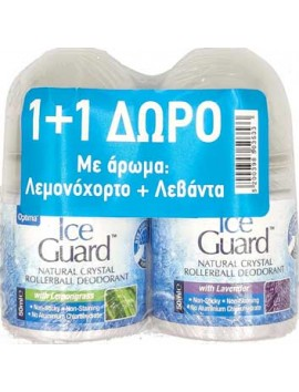 Optima Ice Guard Natural Crystal Deodorant Lemongrass & Lavender Roll-On 2 x 50ml