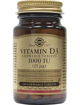 Solgar Vitamin D3 1000IU - 100chew.tabs