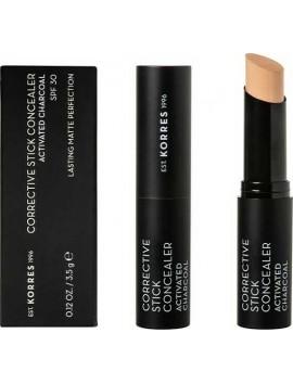 Korres Activated Charcoal Corrective Stick Concealer SPF30 ACS3 - 3,5gr