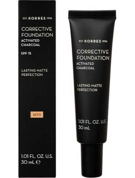 Korres Activated Charcoal Corrective Foundation SPF15 ACF3 - 30ml