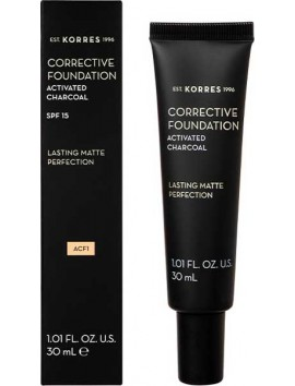 Korres Activated Charcoal Corrective Foundation SPF15 ACF1 - 30ml