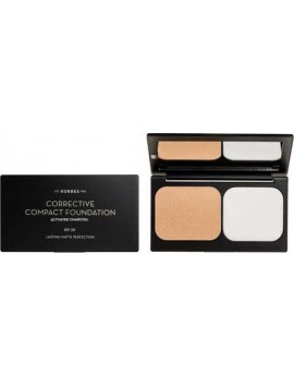 Korres Activated Charcoal Corrective Compact Foundation SPF20 ACCF3 - 9,5gr
