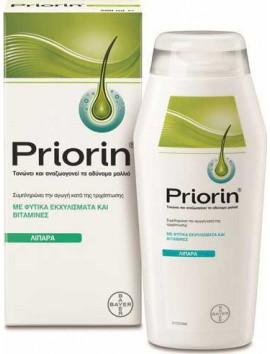 Priorin Σαμπουάν Κατά της Τριχόπτωσης για Λιπαρά/Αδύναμα Μαλλιά - 200ml
