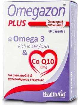 Health Aid Omegazon Plus Omega 3 & CoQ10 - 60caps
