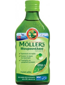Moller's Μουρουνέλαιο Cod Liver Oil Μήλο - 250ml