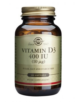 Solgar Vitamin D3 400IU - 100softgels